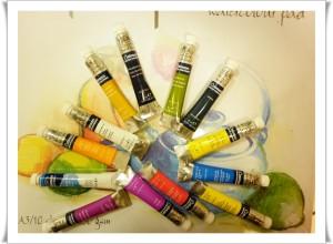 Акварелните бои на Winsor & Newton  се предлагат на брой в туби от по 8 мл. материали, художници, Шумен